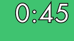 countdown timer with outline