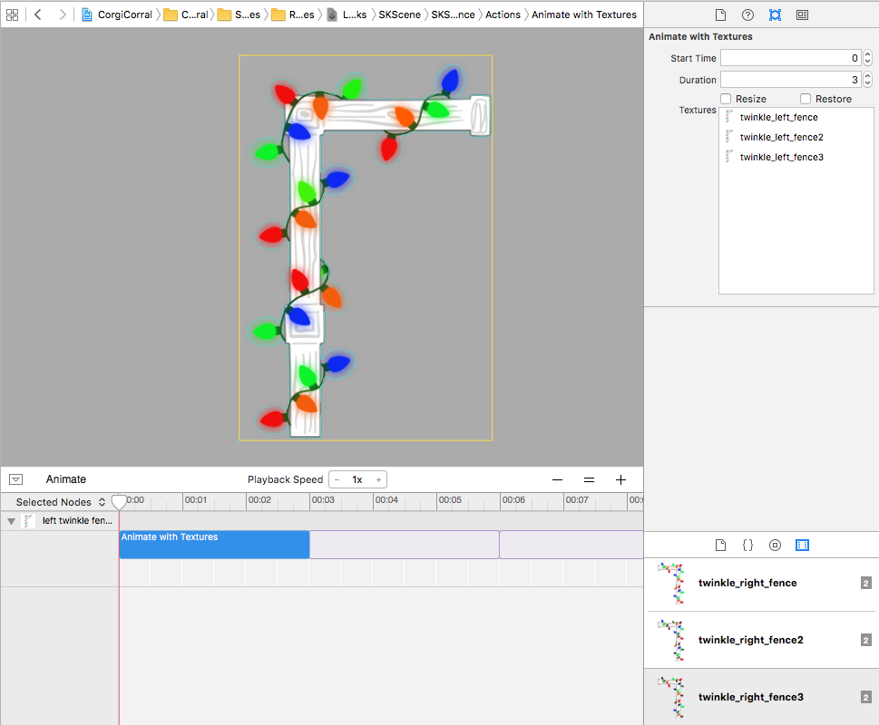 SpriteKit animation editor