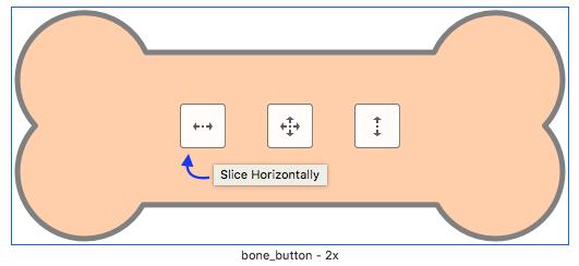 Slicing a button
